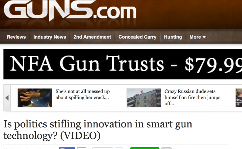 Is politics stifling innovation in smart gun technology?