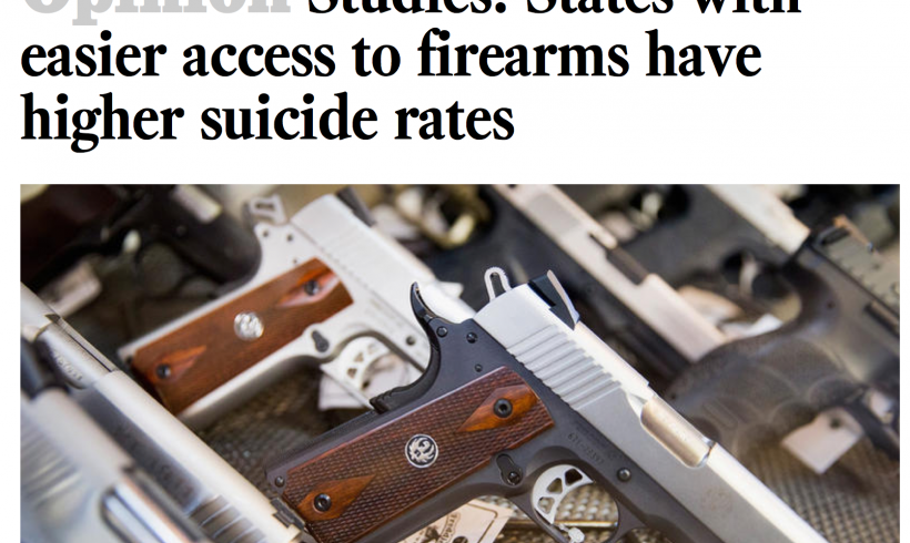 Smart Firearms Safety Technology Can Prevent Suicides