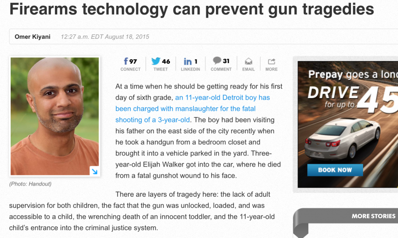 Smart guns can prevent gun tragedies